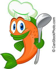 コック, fish, 漫画