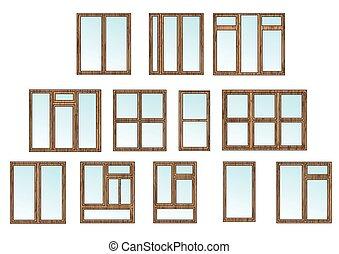 コテッジ, 窓, セット