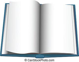 コピースペース, 回転, 本, 背景, 開いた, ページ