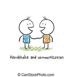 コミュニケーション, 握手