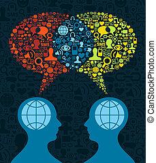 コミュニケーション, 社会, 脳, 媒体