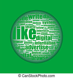 コラージュ, 媒体, 概念, 単語, 社会