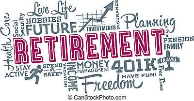 コラージュ, 引退, 計画, 単語