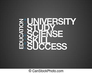 コラージュ, education., 単語, ビジネス
