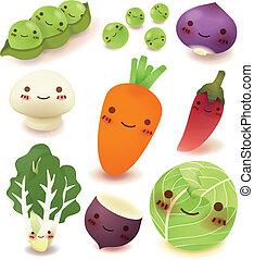 コレクション, フルーツ, 野菜