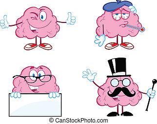 コレクション, 脳, 漫画, 7, マスコット