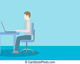 コンピュータ, 人間が座る