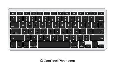コンピュータ, 黒, キーボード