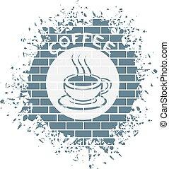 コーヒー, シンボル, すてきである