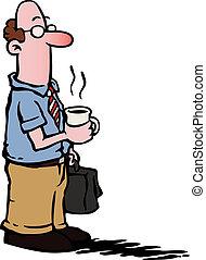コーヒー, ビジネス, /, 従業員, 持つこと, 人