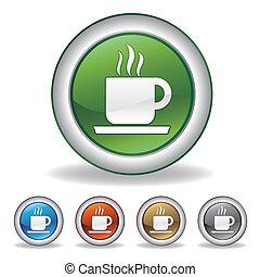コーヒー, ベクトル, アイコン