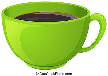 コーヒー, 緑, カップ