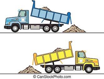 ゴミ捨て場, ベクトル, トラック, eps, ファイル
