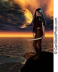 サイエンスフィクション, 女性, 戦士