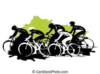 サイクリング, racers., 道