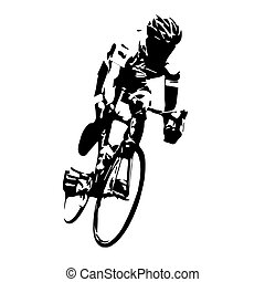 サイクリング, vector., 道, サイクリスト