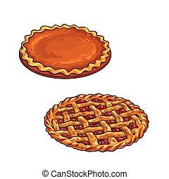 サクランボのパイ, カボチャ, 感謝祭, デザート