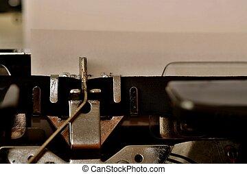 サー, 古い, タイプされる, テキスト, 親しい, タイプライター