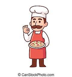 シェフ, イタリア語, ピザ