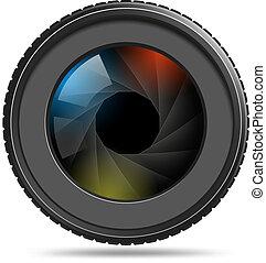 シャッター, カメラレンズ, 写真
