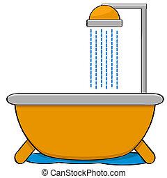 シャワー, 浴槽