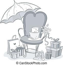 シャワー, embellishments, bridal