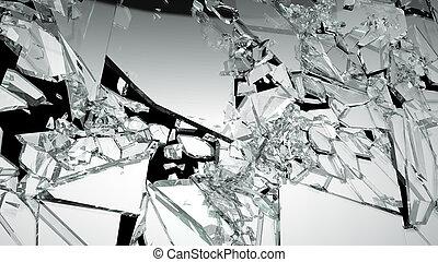 シャープ, ガラス, demolished, 小片