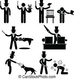 ショー, 手品師, マジック, pictogram