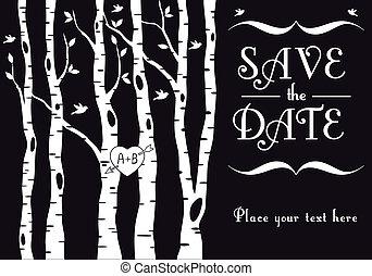 シラカバ, 招待, 結婚式, 木