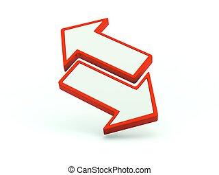 シリーズ, icon., 赤, 交換