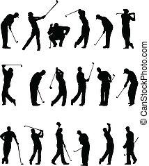 シルエット, ゴルファー