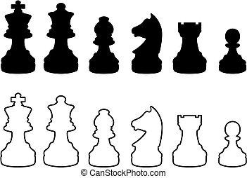 シルエット, チェス