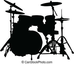 シルエット, ドラム