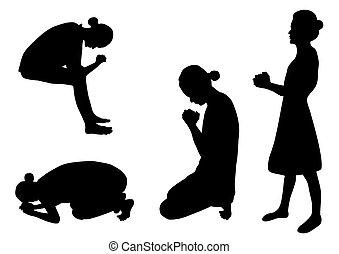 シルエット, 祈ること