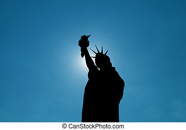シルエット, 自由, 像
