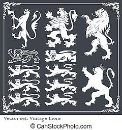 シルエット, 要素, heraldic