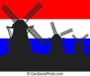 シルエット, 風車