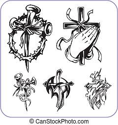 シンボル, キリスト教徒, ベクトル, -, illustration.
