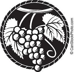シンボル, ブドウ, デザイン, ブドウ, (grapes
