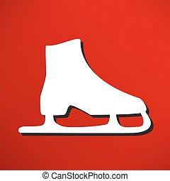 シンボル, ベクトル, アイススケートをする
