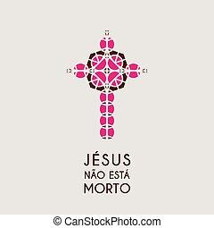シンボル, ベクトル, キリスト, モザイク, イエス・キリスト