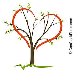 シンボル, ベクトル, 愛, 自然