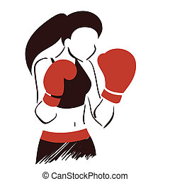 シンボル, ボクシング, 女