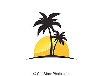 シンボル, モビール, 現代, アイコン, ウェブサイト, 単純である, トロピカル, 媒体, 見なさい, 浜, ∥あるいは∥, logo., avatar, 意志, すてきである, 独特, itself, 社会