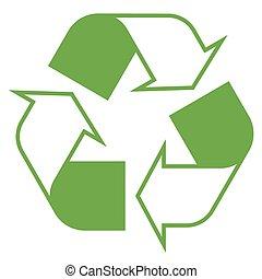 シンボル, リサイクル, 緑