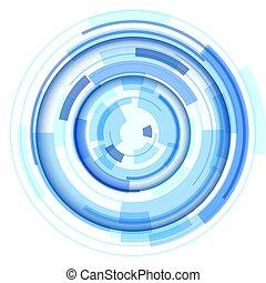 シンボル, 円, 技術, レンズ, デザイン, 3d, 抽象的