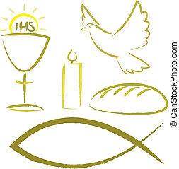 シンボル, 宗教, -, 神聖, 聖餐