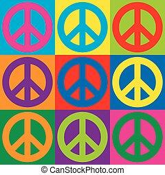 シンボル, 平和, 芸術, ポンとはじけなさい