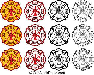 シンボル, 消防士, 交差点