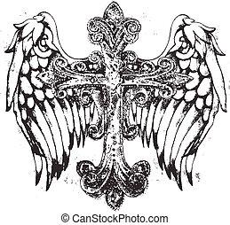 シンボル, 皇族, 交差点, 翼